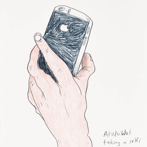 Image of Ai Weiwei taking a selfi