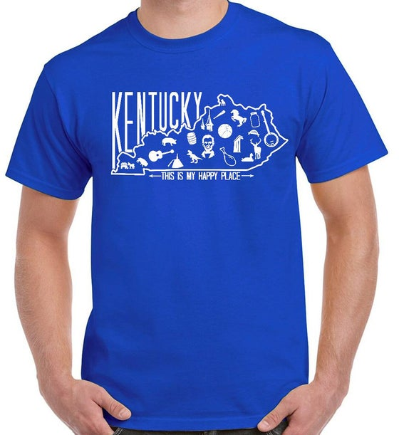 Image of Happy Place Tee (Kentucky Blue)