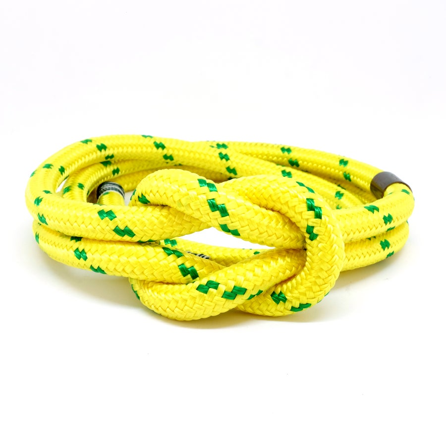 Image of CEINTURE DU MARIN JAUNE FILETS VERT LARGE