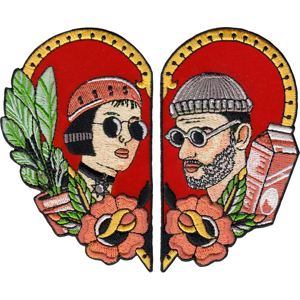 Image of Leon and Mathilda Two Patch Set by la barbuda