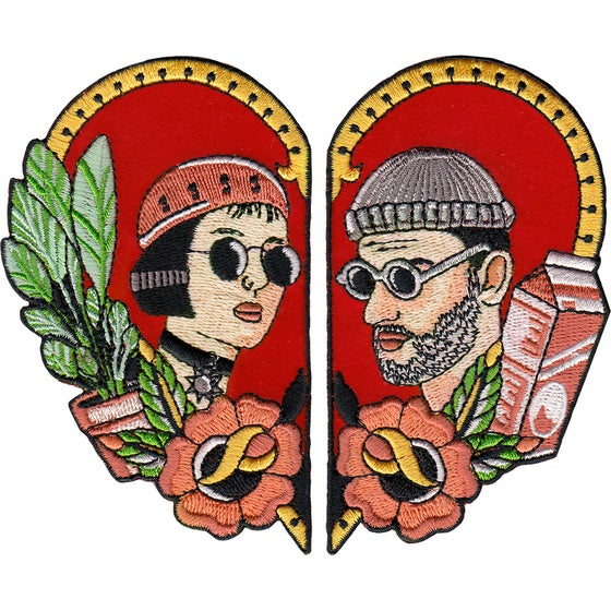 Image of Leon and Mathilda Fan Art Two Patch Set by la barbuda