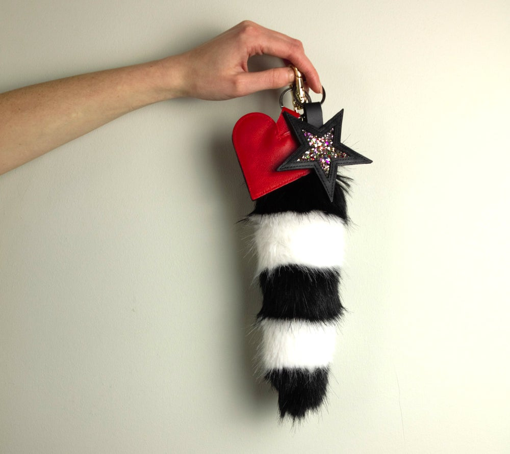 Image of WILD THING FAUX FUR TAIL CLIP
