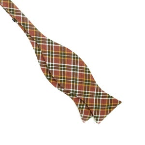 Image of Sample Sale - Rosewood Plaid Bow Tie