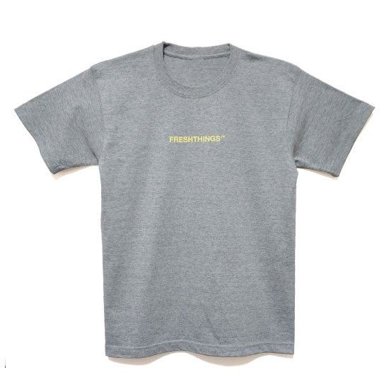 Image of LOGO TEE / GREY x YELLOW