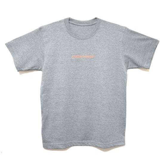 Image of LOGO TEE / GREY x ORANGE