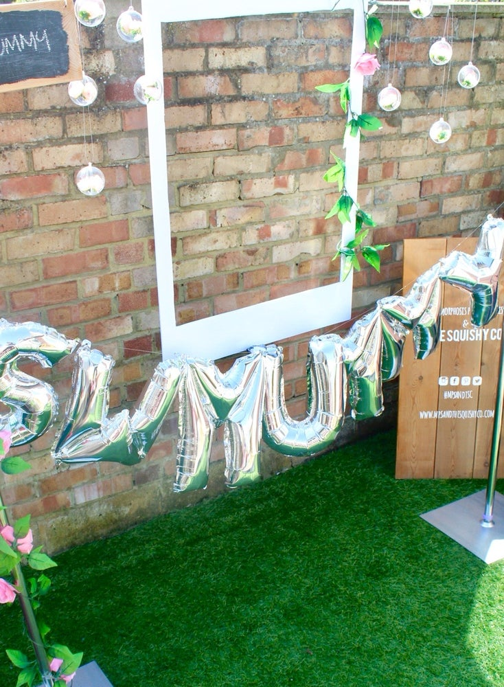 Image of Personalised photo frame and grass hire