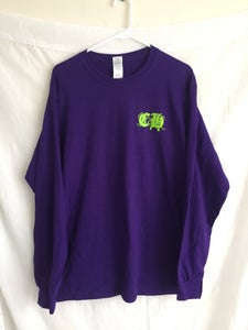 Image of Skull n Roses purple long sleeve