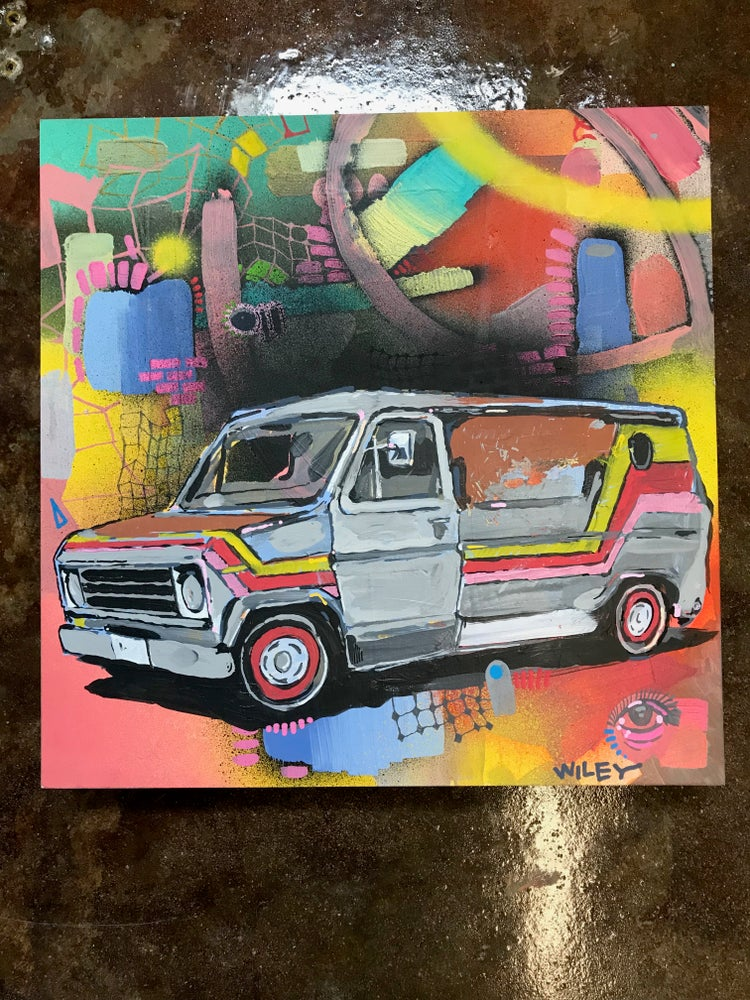 Image of colorful van painting