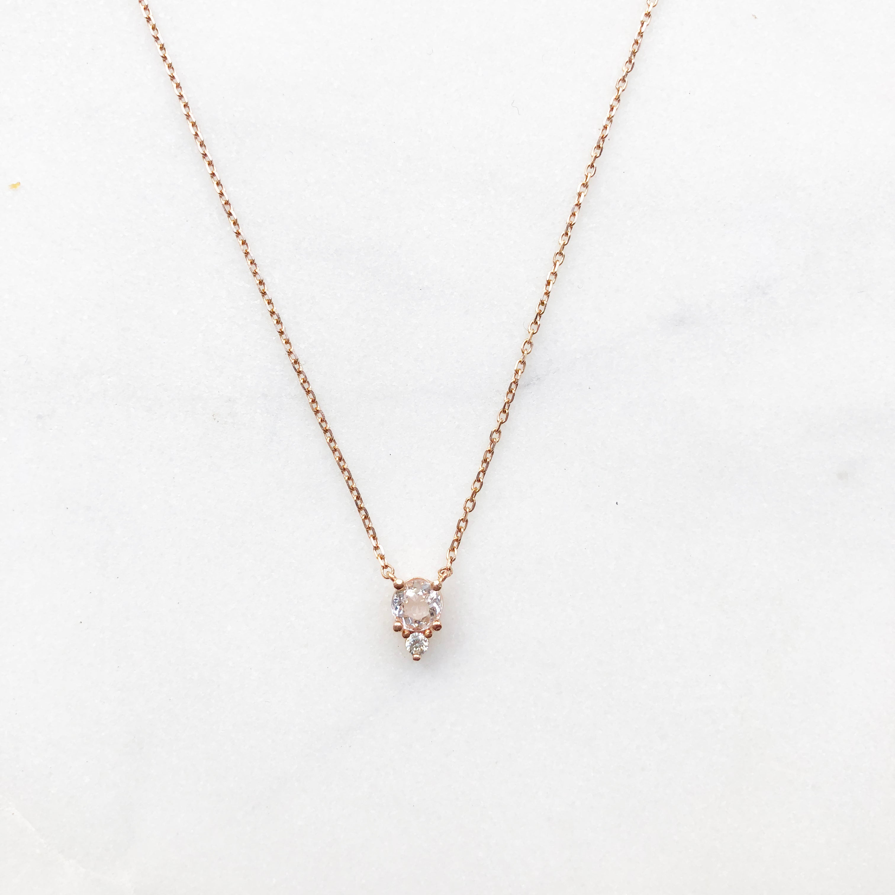 products maile stones pendant handmade morganite