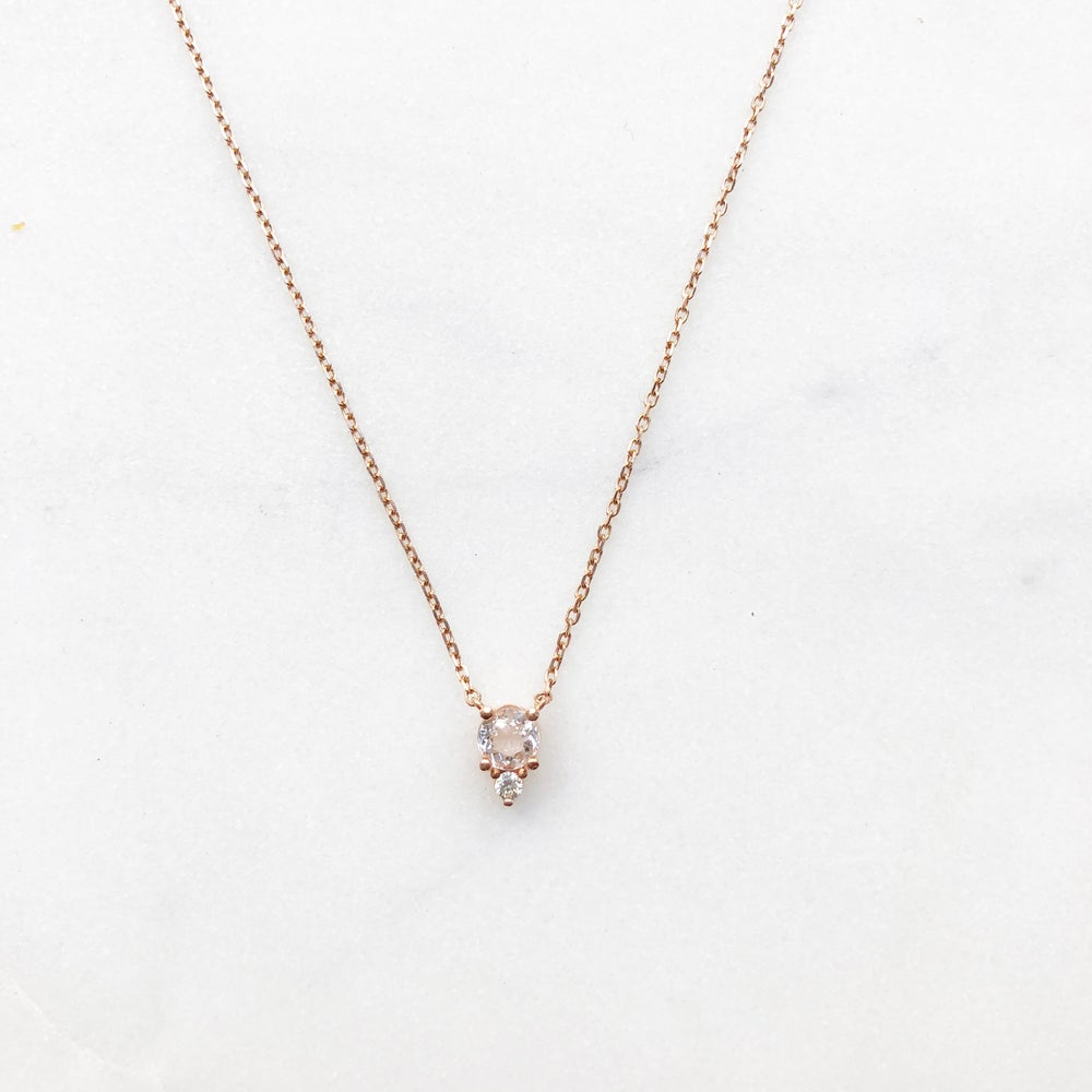Image of Morganite Solitaire Necklace