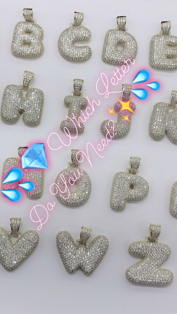 Image of Bubble Letter Chain - \•Silver