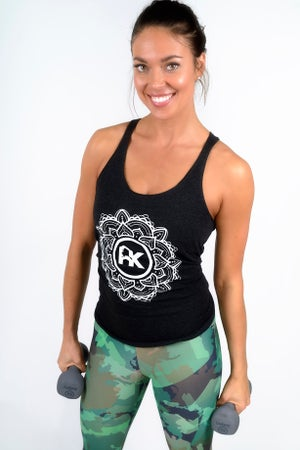 Image of Women's Mandala Logo Tank - Black/White