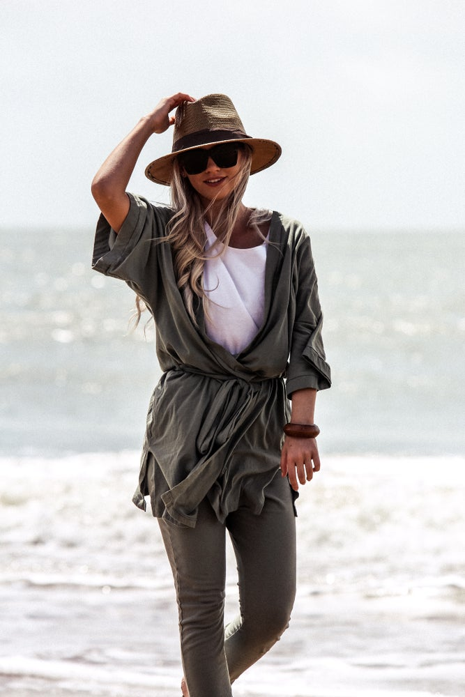 Image of Travel Robe - Olive