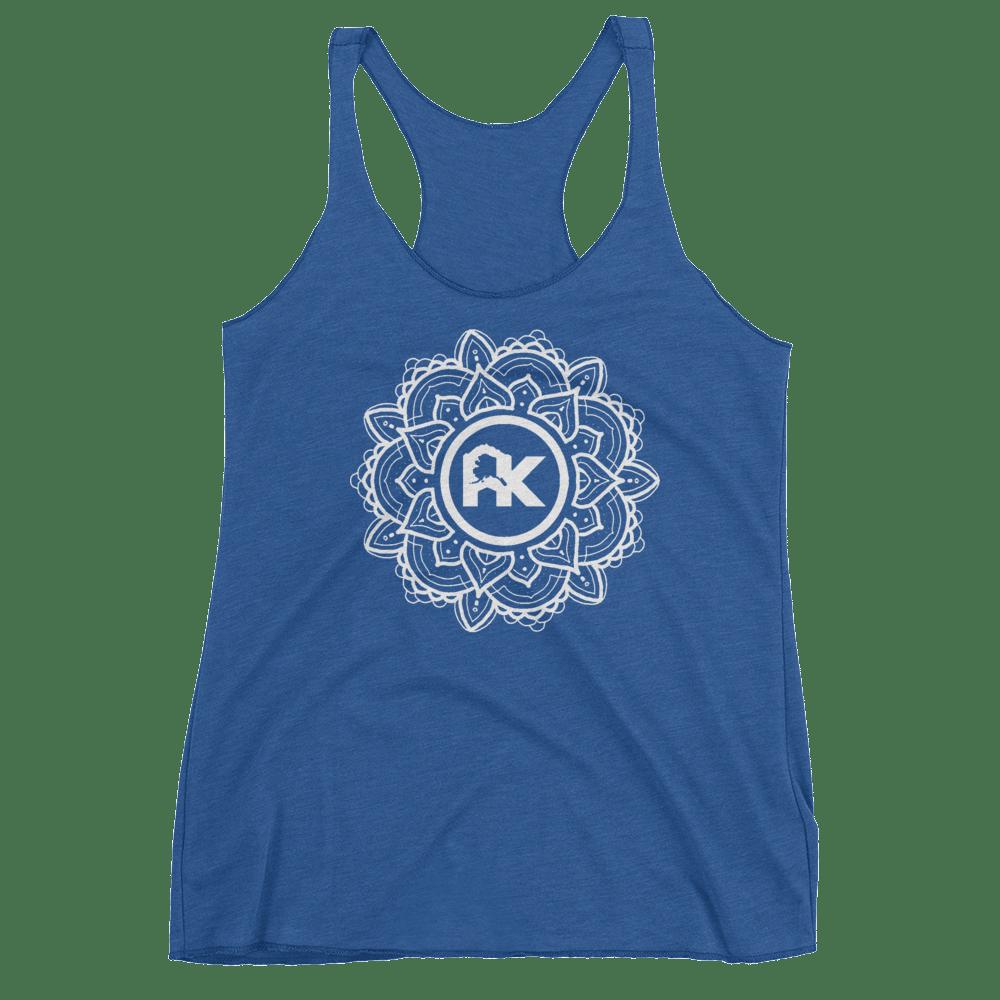 Image of Women's Mandala Logo Tank - Blue/White