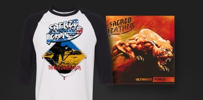 Image of Ultimate Force (Black) Vinyl + Raglan Combo
