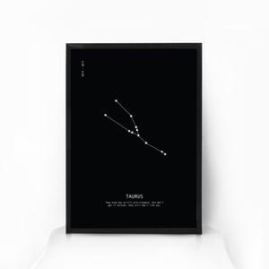 Image of Zodiac Star Sign Constellation Art - BLACK