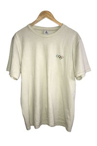 Image of ZION OLYMPIC GOLD EMBROIDERED TEE <br> BONE