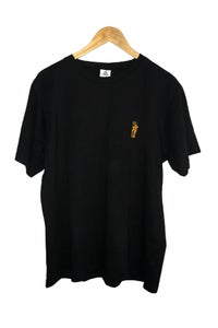 Image of CARRY THE TORCH  EMBROIDERED TEE <br> BLACK