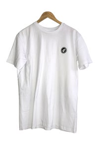 Image of PYRAMID BADGE TEE <br> WHITE
