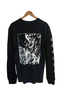 Image of CHICKEN APOCALYPSE LONG SLEEVE TEE <br> BLACK