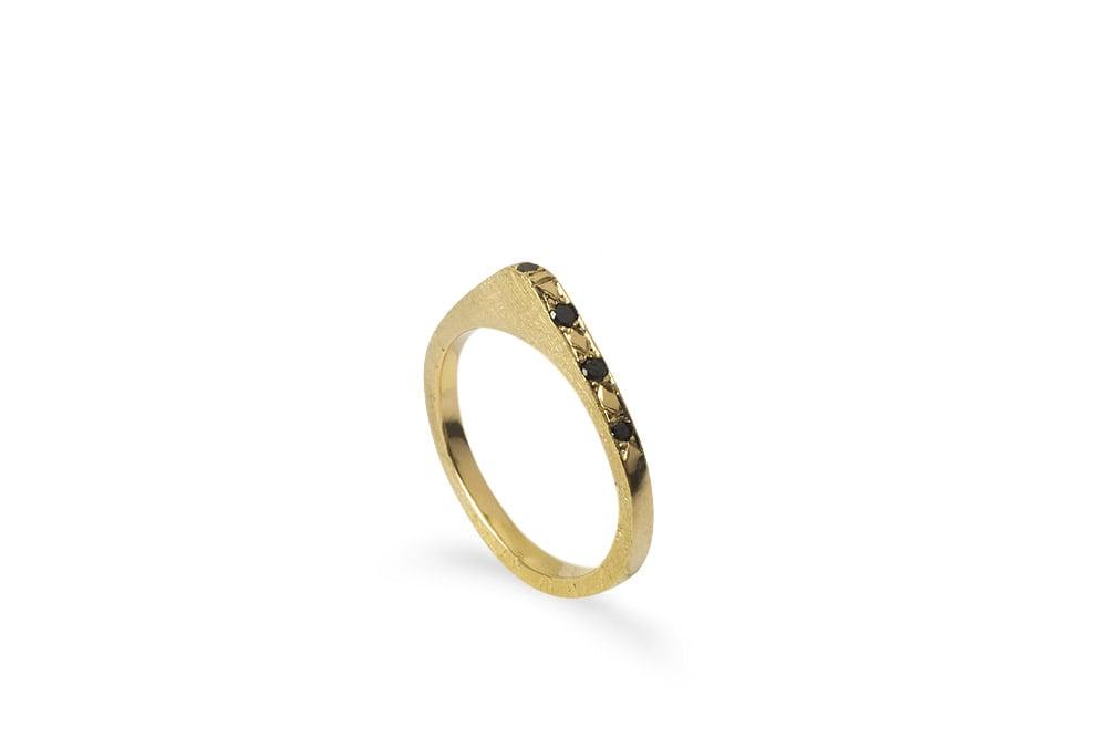 Image of Blade Ring black Diamonds