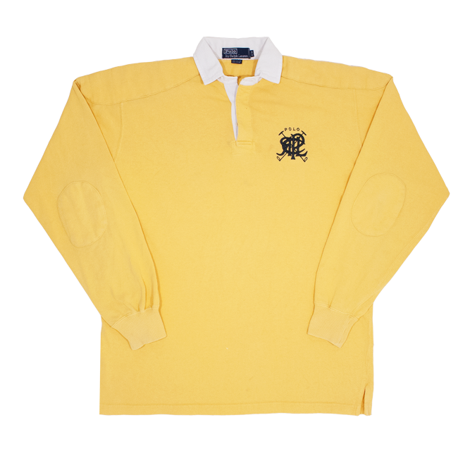 Image of Polo Ralph Lauren Vintage Crest Rugby Shirt Size M