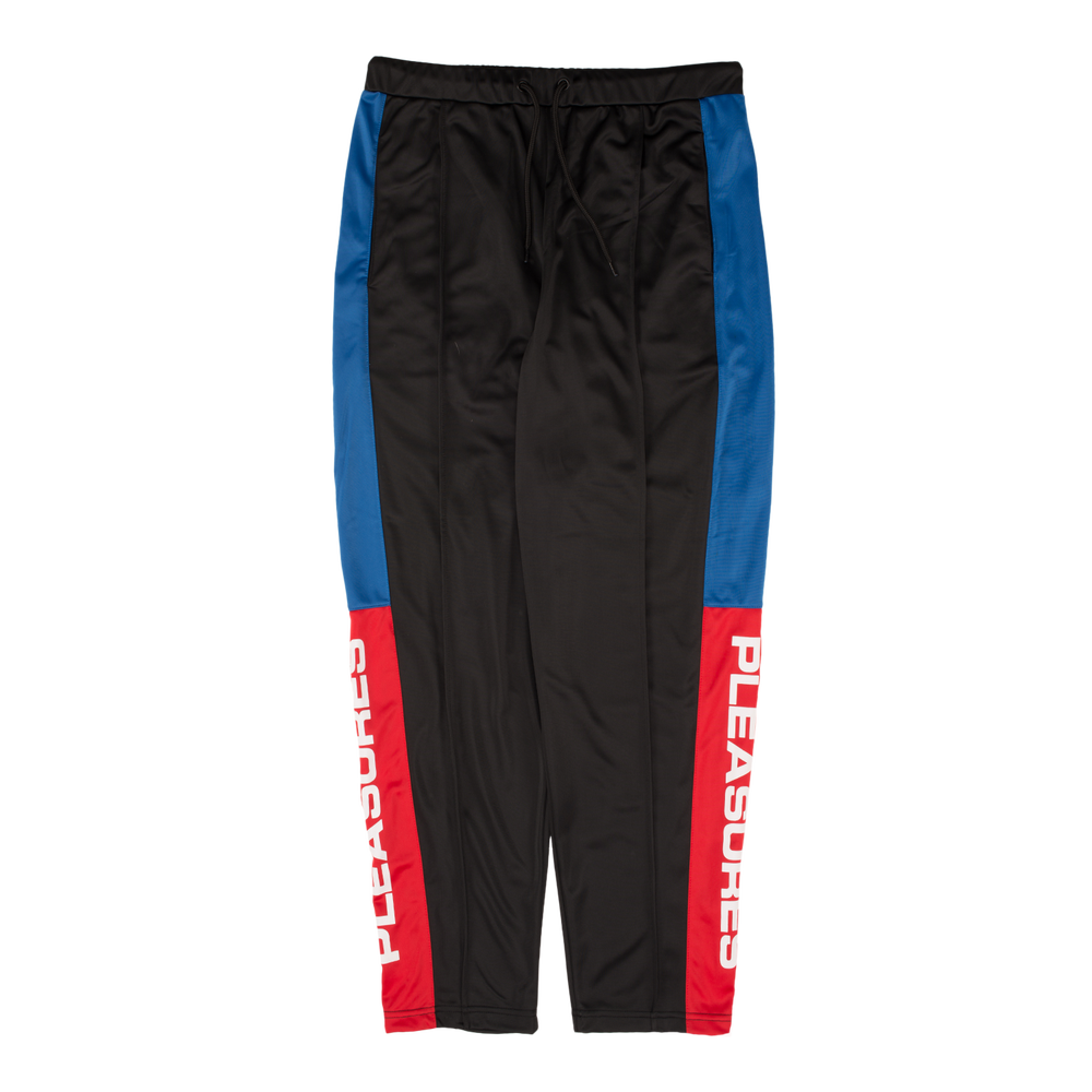 Image of PLEASURES - COLORBLOCK TRACK PANTS (BLACK)