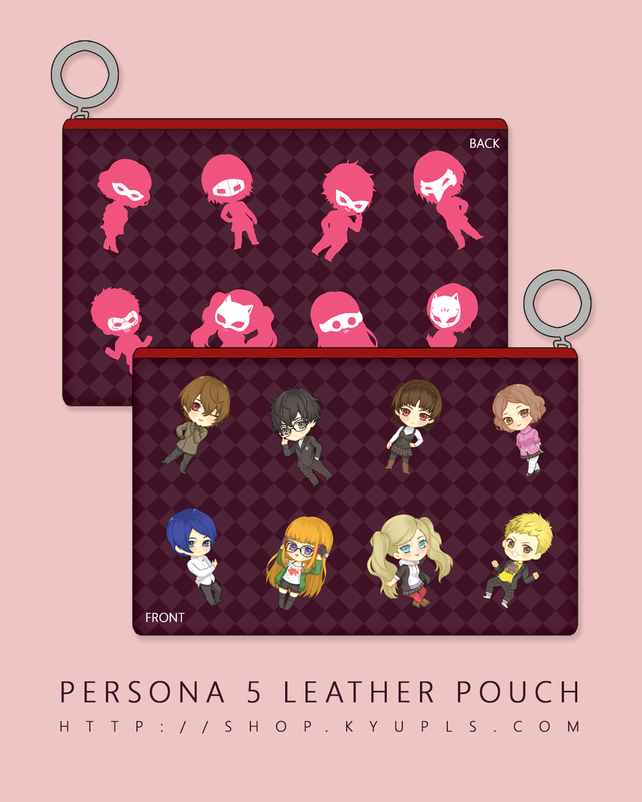 Image of Persona 5 Faux Leather Pouch -PREORDER-