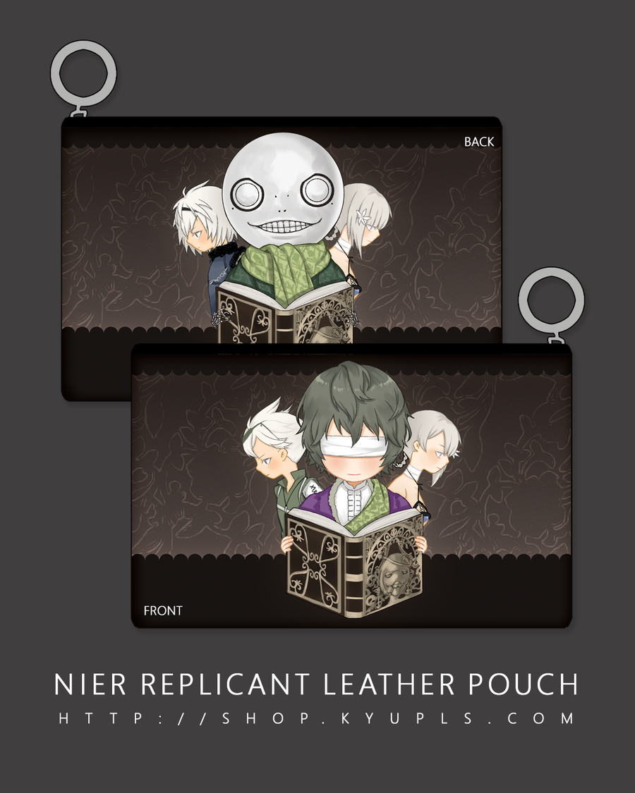 Image of NieR Replicant Faux Leather Pouch - PREORDER -