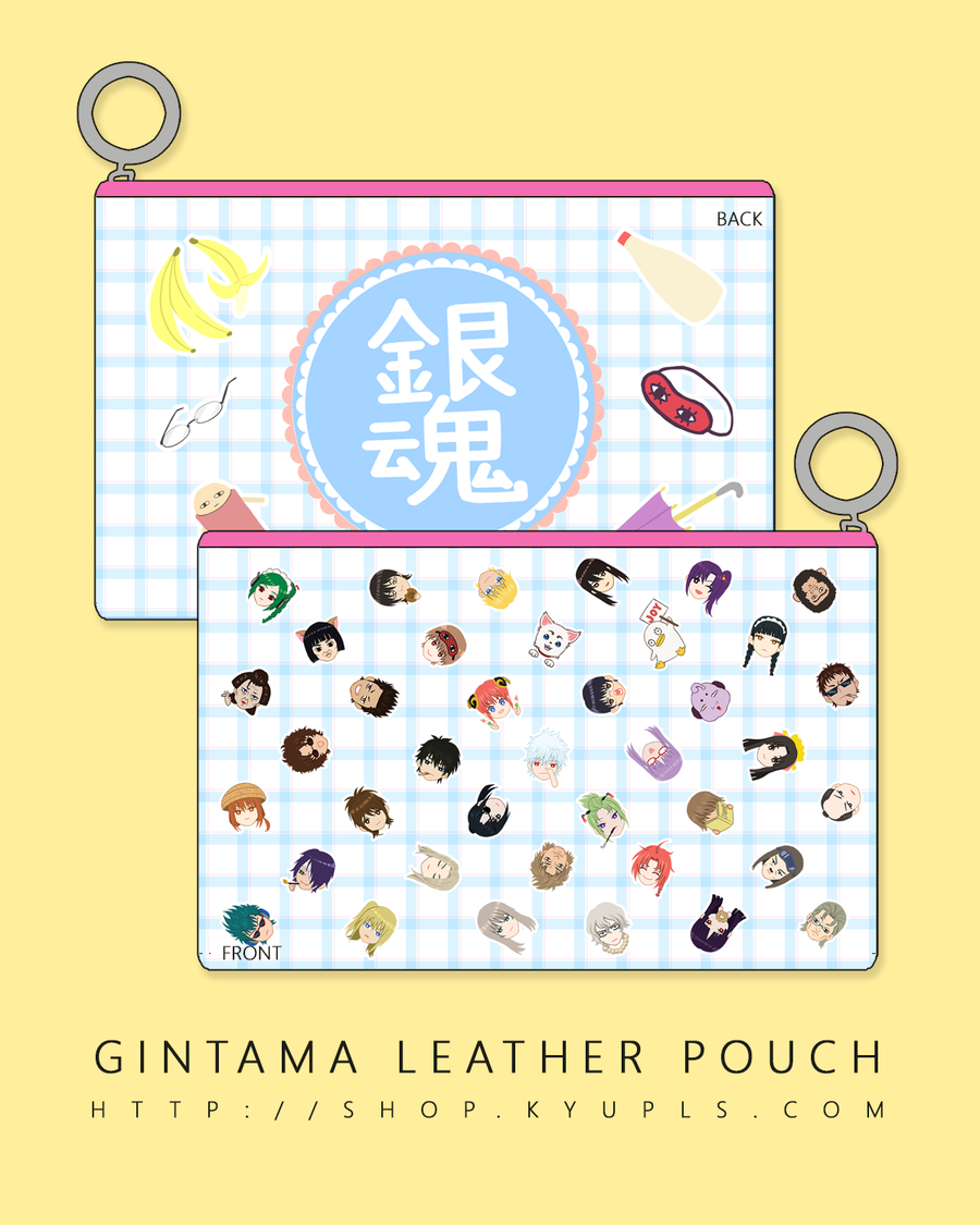 Image of Gintama Faux Leather Pouch - PREORDER-