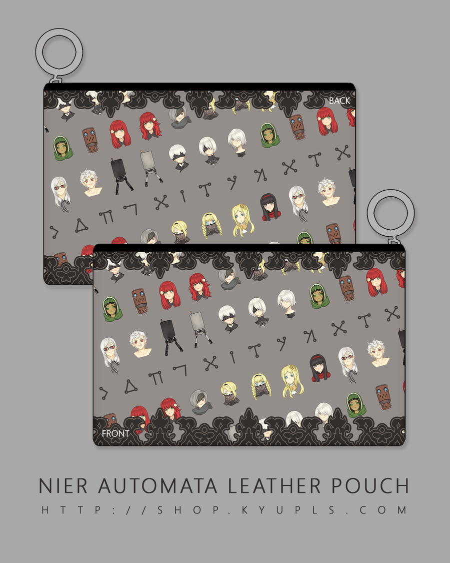Image of NieR: Automata Faux Leather Pouch - PREORDER-