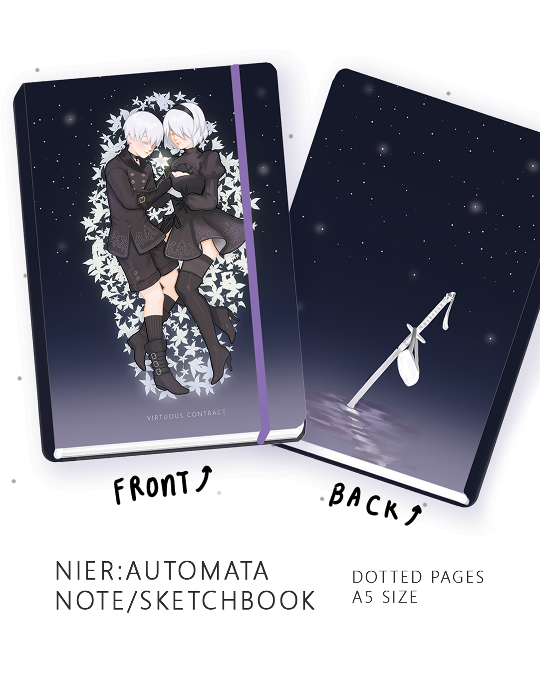 Image of NieR: Automata Virtuous Contract Notebook -PREORDER-