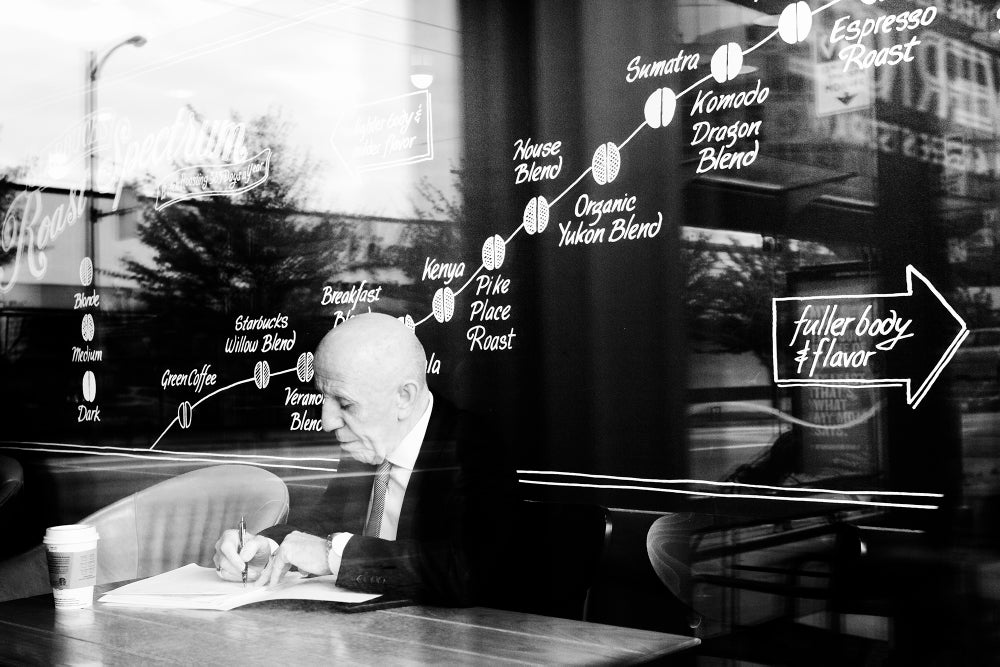 Image of Man in Coffee Shop