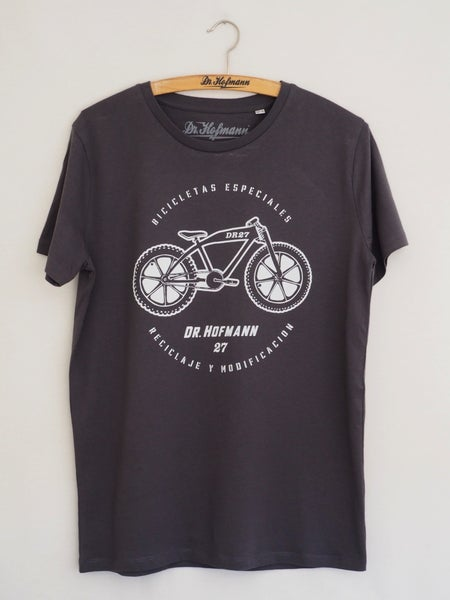 "Image of ""MOTOCLETA""- Anthracite - Organic Cotton"