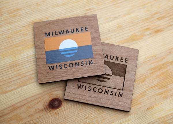 Image of Milwaukee Flag Coaster