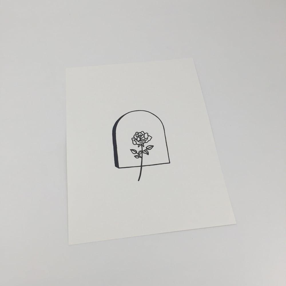 Image of Rose stone print