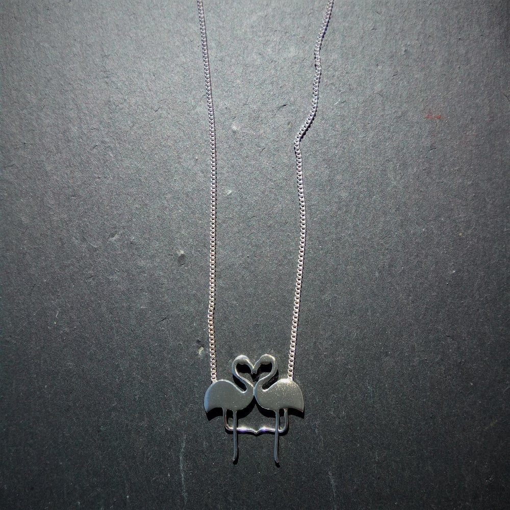 Image of Kissing Flamingo Necklace