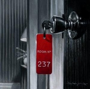 "Image of ""Overlook Hotel Room"" - 5"" x 5"" giclee"