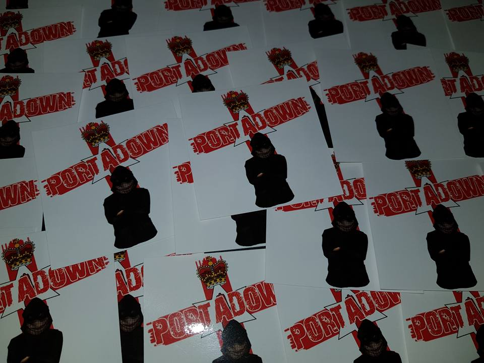 Image of Portadown FC 25 Ultras/Casuals sticker pack. Red Hand of Ulster Stickers. 7x7cm