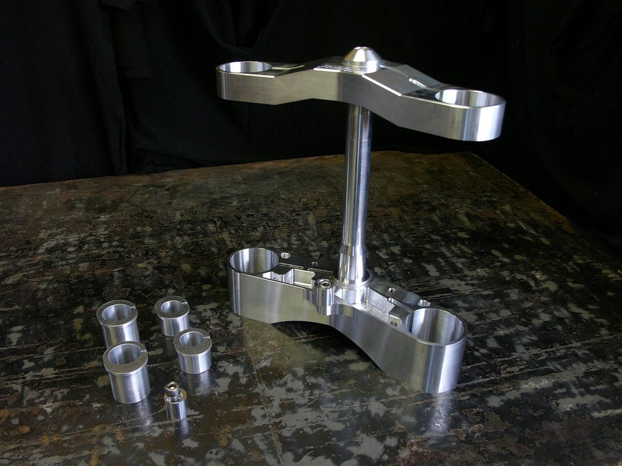 Image of Mk2 Adjustable offset gullwing triple clamps