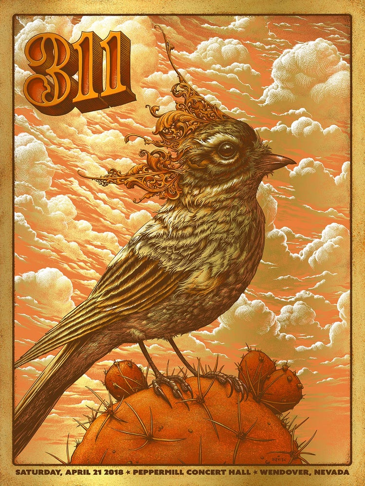 Image of 311 Gig Poster: April at Peppermill