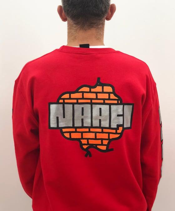 Image of NAAFI uniform - Red Crewneck Sweatshirt