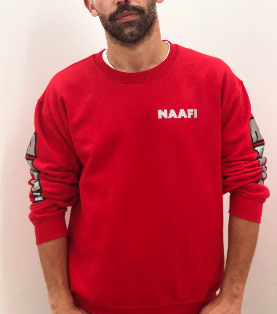 Image of NAAFI uniform - Red Crewneck Sweatshirt