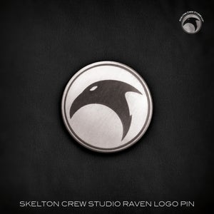 Image of The Skelton Crew Collection: Antique Raven's Head logo pin!