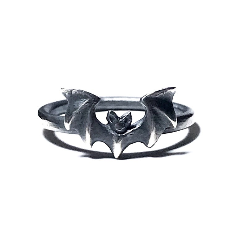 Image of Mini Vampira ring in oxidized sterling silver or 14k gold