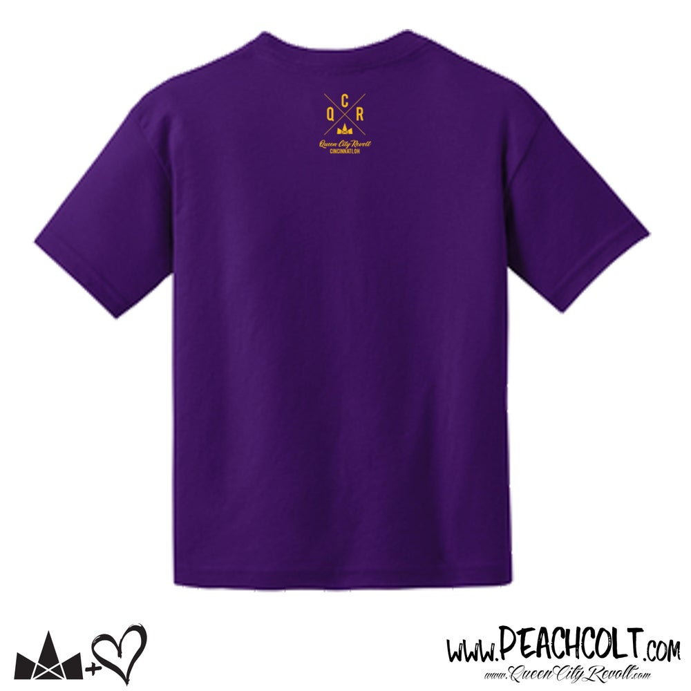 Image of Queen Of the Queen City, Purple Hippo, Youth Tee