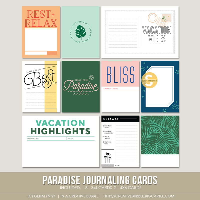 Image of Paradise Journaling Cards (Digital)