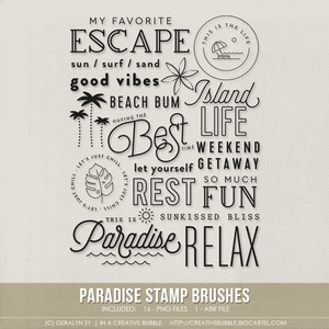 Image of Paradise Stamp Brushes (Digital)
