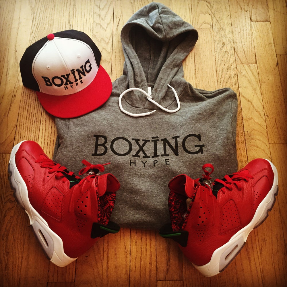 Image of Gray BoxingHype hoodies