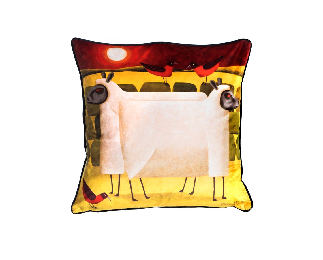 Image of Knuttel Luxury Cushion (RED NIGHT)